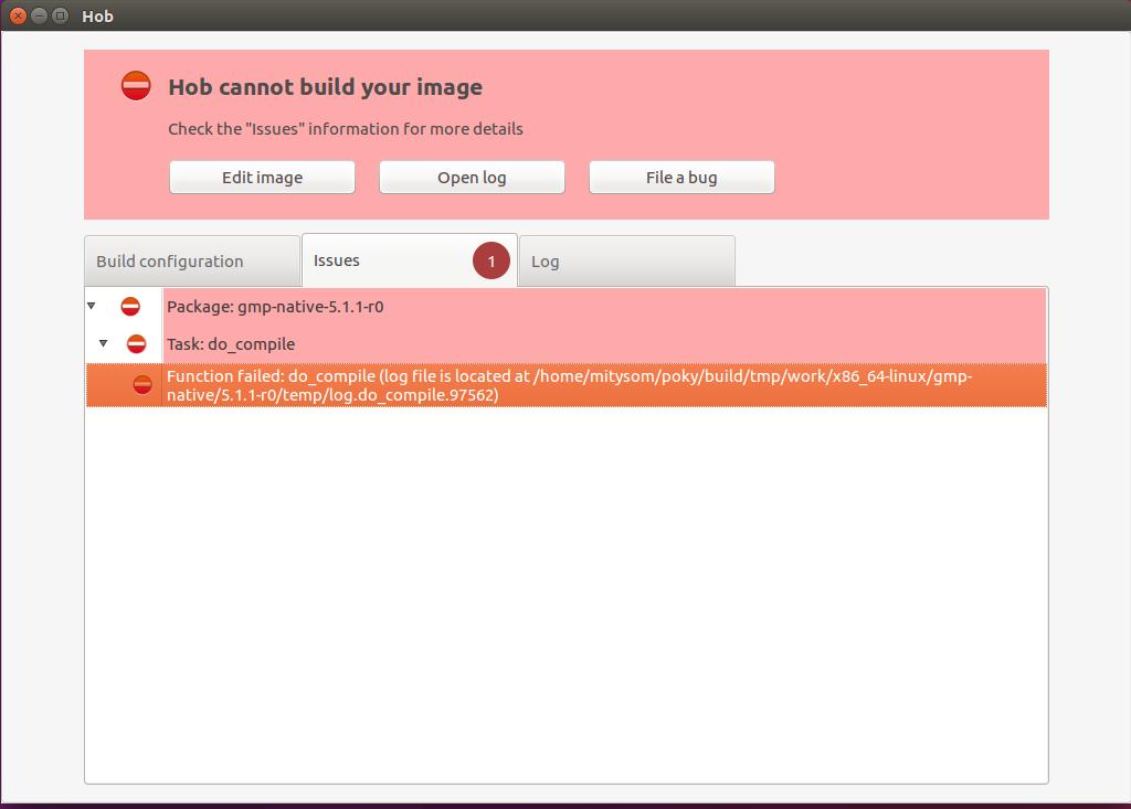 Hob Cannot Build Your Image - MitySOM-5CSX Altera Cyclone V