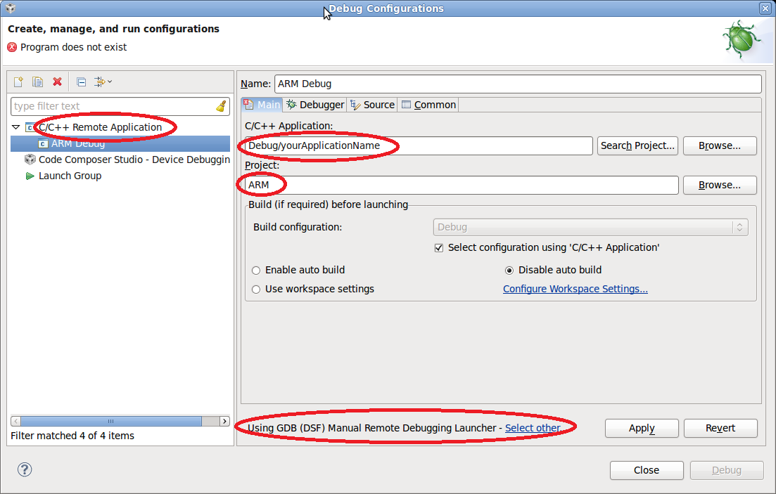 Debugging ARM Apps with Eclipse - ARM9 Based Platforms - Critical ...